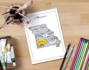 Arizona state map coloring pages adult coloring page map