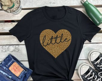 Big Little Reveal Shirts Women's Short Sleeve Crewneck T Shirt ,Big Little Love Gift Tee Sorority Glittle Family Shirts GGBig GBig Shirt