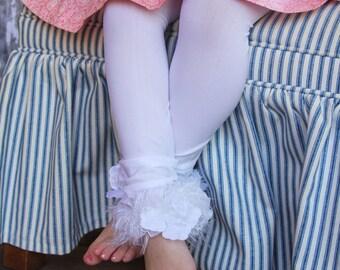 White Toddler Girls Easter Spring Stockings/ Tights