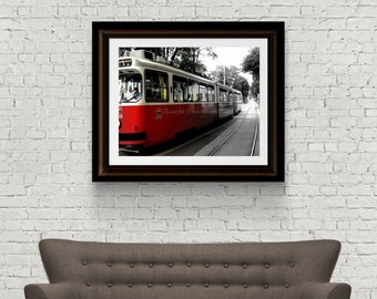 Tram Vienna - Austria Photography - Vienna Photography - Original Fine Art - Digital Download - Transport Photography