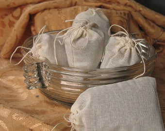 Organic Lavender Dryer Sachet- 1 large muslin bag with refill essential oils, ECO LAUNDRY CARE Trial Size