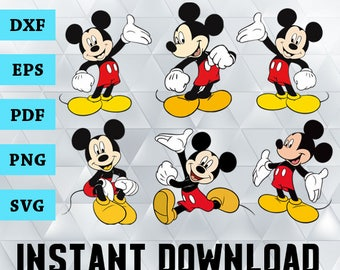 Mickey Mouse Svg, Mickey Mouse Cliparts, Mickey Mouse Svg Files, Disney Mickey Mouse, Mickey Mouse Cutting Files, Dxf, Eps, Pdf, Png, Svg