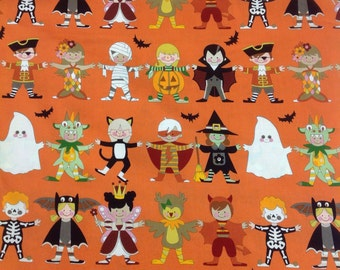 Alexander Henry You & Me: Scary Orange Bkg 1 Yard 3""