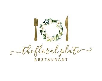 Gold Bakery Logo Design, Catering Logo, Event Planing Logo, Restaurant Logo, Baking & Cooking Logo, Food Blog Logo,  Recipe Blog Logo 226