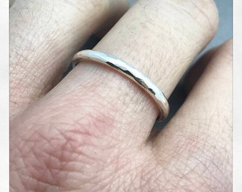 Wedding bands. friendship bands. Textured handmade rings