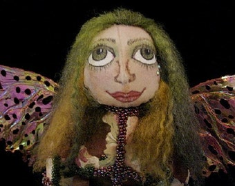 Fairy Art Doll-IVY-One of a Kind Art Doll (Made to order by request)