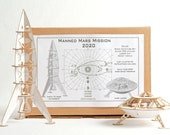 Deluxe Space Adventure Model Kit with Rocket and Lander, DIY