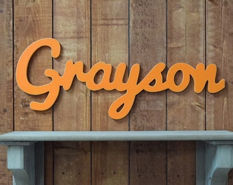 Large Wooden Name Sign, Wooden Name Cut out, Wood Cursive Letters- perfect for your home, accent wall, child's room, or nursery