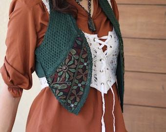 SALE Embroidered Gypsy Tzigane Boho Ethnic Bohemian Vest