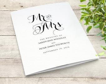 Art Deco Wedding Program Printable Order Of Service Template - Wedding invitation templates: wedding order of service template