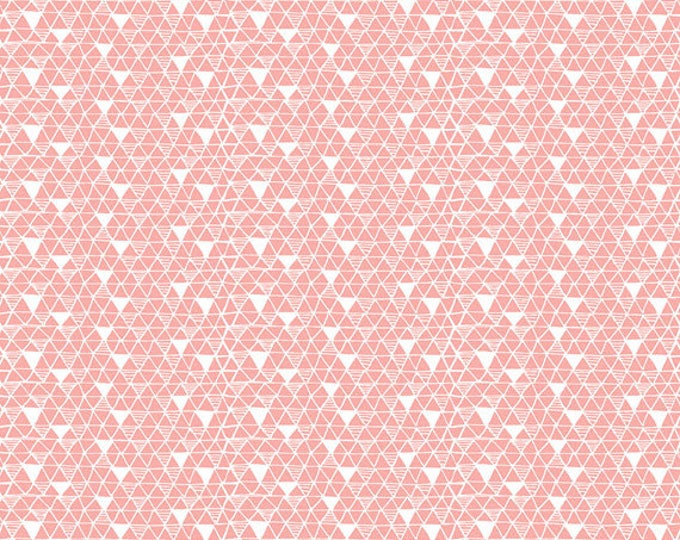 PANDA-RAMA - Rice Paper in Pink - Triangle Geometric Cotton Quilt Fabric - by Maude Asbury for Blend Fabrics - 101.129.03.3 (W4286)
