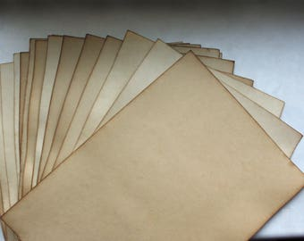 10 sheets aged paper, old parchment, antique leaflets, wedding invitation, ancient paper imitation, weathered paper, old invitation paper