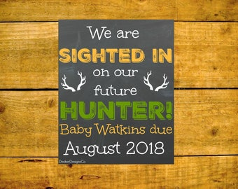 Pregnancy Announcement, Hunting Pregnancy, Baby Reveal, Baby Announcement, Pregnancy Reveal, Hunting Baby, Baby Reveal Sign, Chalkboard Sign