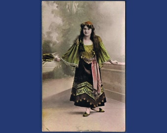 Vintage Costume Postcard - Goethe - Mignon