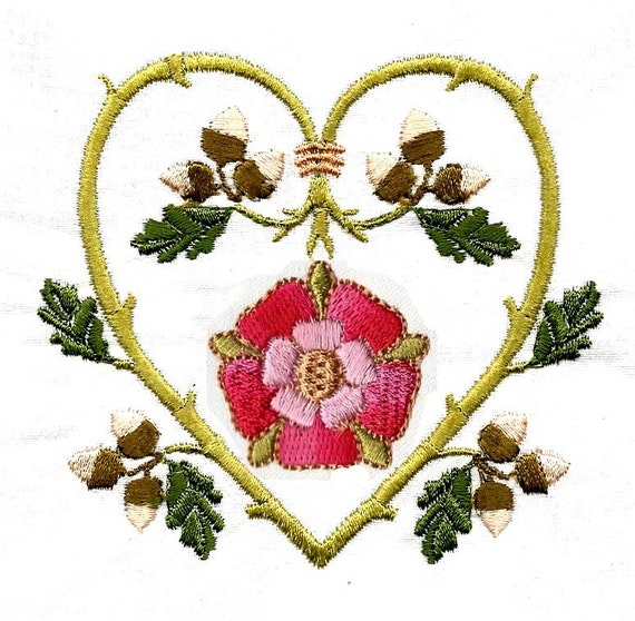 Tudor Rose Borders Machine Embroidery Designs From Chelseabint On
