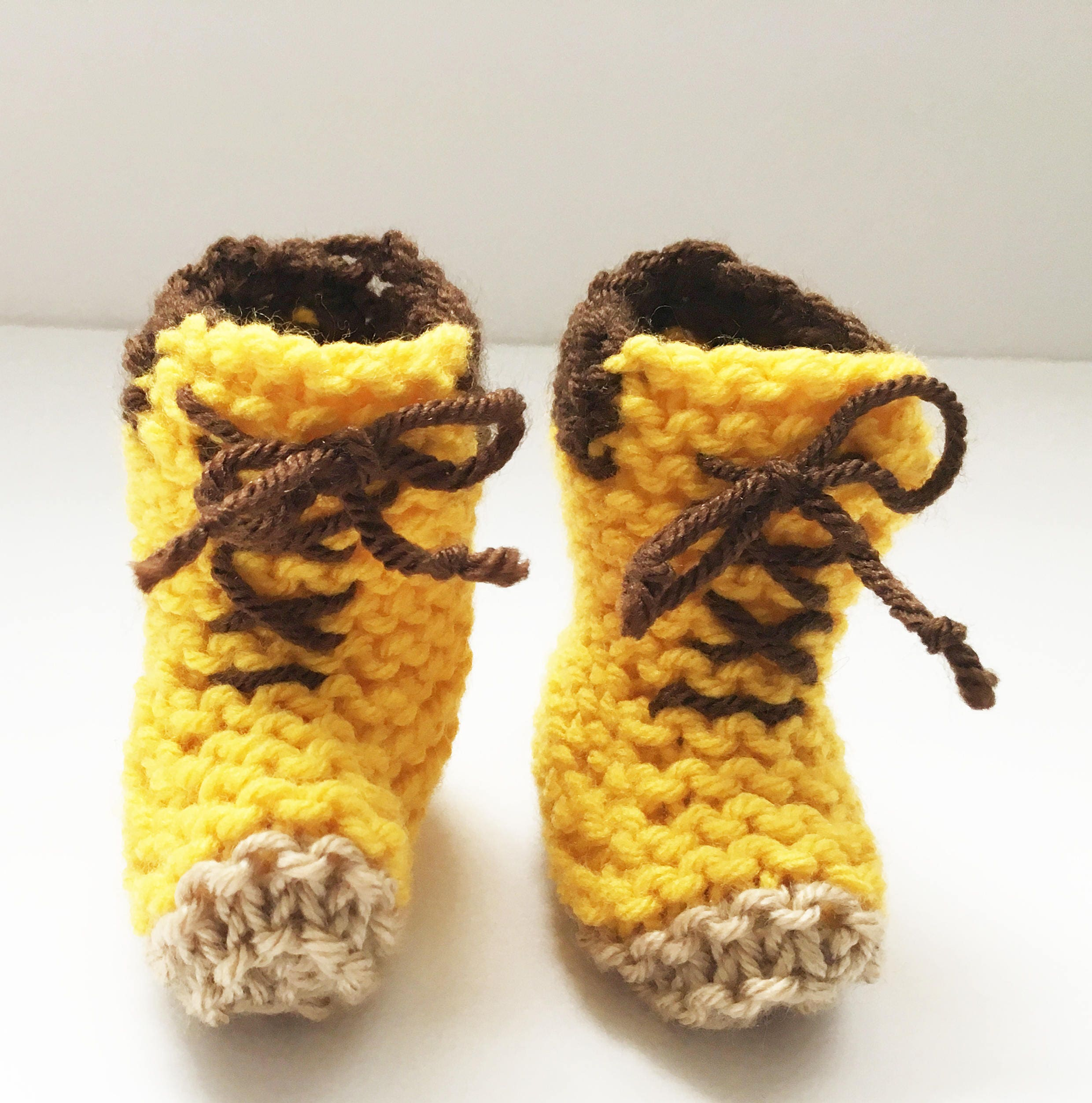 Knit Timberland Baby Booties Knit Baby Hiking Booties Knit