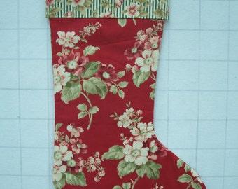 Floral Chrismas Stocking