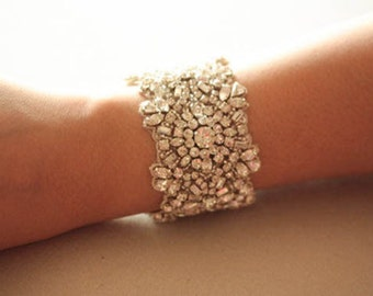 Wedding Crystal Bracelet   - Kristal Silver  (Made to order)