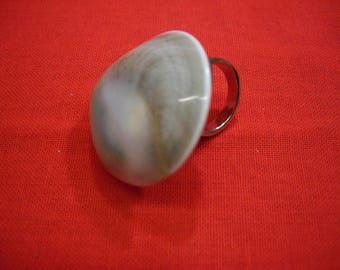 Ring with big operculum