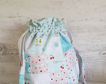 Knitting Project Bag, Knitting Bag, Project Bag, Crochet Project Bag, Yarn Bag, Drawstring Bag, Crochet Bag, Sock Project Bag, Mothers Day.