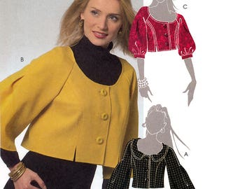 McCall's M5528 Sewing Pattern for Misses' Cropped Jackets - Uncut - Size 14, 16, 18, 20