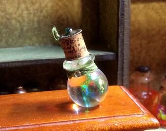 Green Grindylo Hatchling Bottled Wet Specimen Magical Cabinet of Curiosity Dollhouse Miniature