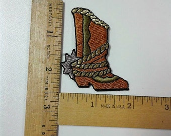 Cowboy Boot Iron on Patch