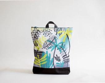 "Waterproof backpack ""Jungle"", printed ""Jungle"" design, 13"" laptop backpack"