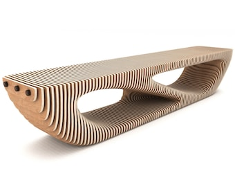 Zebulun Bench - CNC Cut Parametric Bench / TV Stand