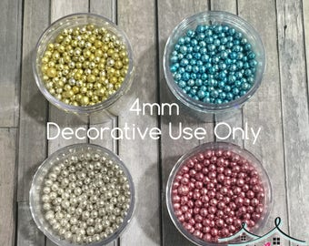 Metallic Dragee Sugar Pearls (Decorative Use Only) 4mm