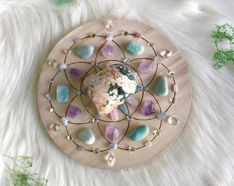 20cm Peaceful and Harmony Complete Set of Crystal Grid