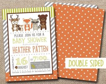 Woodland Friends Baby Shower Invitation