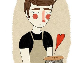 The Piemaker  - Illustration Print