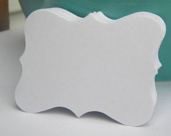 Large place cards or tags in white card stock - 250 pieces -gift tags, earring cards, weddings
