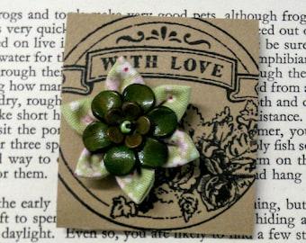 Handmade Textile Flower Pin