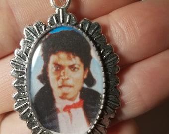 Michael Jackson Pendant Necklace or Keychain