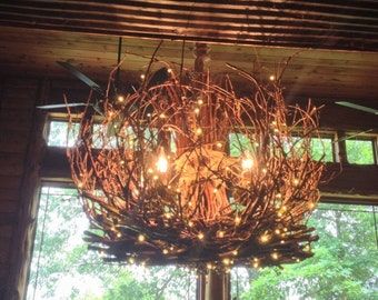 Grapevine chandelier etsy cumberland rustic chandelier 5 light grapevine chandelier twig light twig chandelier branch chandelier aloadofball Choice Image