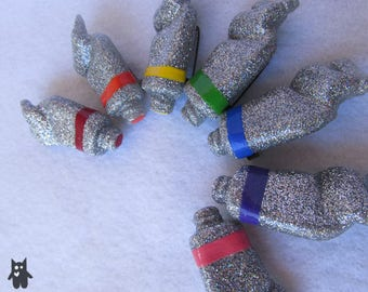 Holographic Glitter Paint Tube Brooch