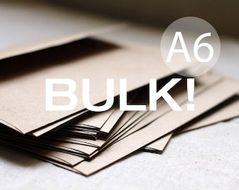 "BULK! 100 4x6 Kraft Envelopes - A6 Kraft Brown Envelopes (true size 4 3/4"" x 6 1/2"") Wedding envelopes - kraft paper bag"