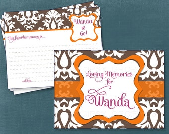 Loving Memories & Well Wishes Cards . Printable Cards by Tipsy Graphics. Any text and Colors