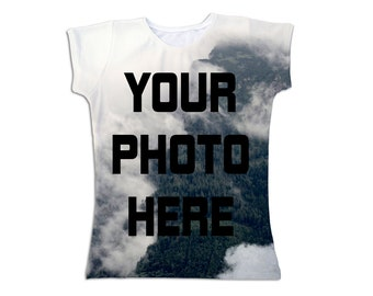 Custom tshirt from your photo - design your fullprint tee - Create persolanized all over clothing