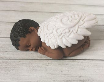 Angel Memorial Sculpture | Sleeping Angel Baby | Miscarriage and Infant Loss Gift | Sympathy Gift of Rememberance for Loss of Child or Baby