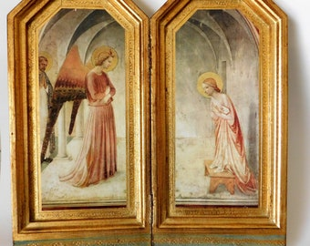 Vintage Florentine Diptych Plaques ART