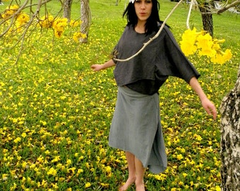 Hemp skirt custom made and hand dyed // organic clothing // eco-friendly // hemp clothing