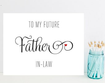 Card for In-laws on Wedding Day - Father-in-Law Wedding Card - To My Future Father In-Law - Wedding Day Cards - Greeting Cards - Wedding Day