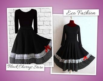 S M L XL Pin Up Dress Swing Rockabilly Wedding 50s 60s Bridal Dress Retro Wedding Dots Lace Petticoat Dress Black Cherrys Store