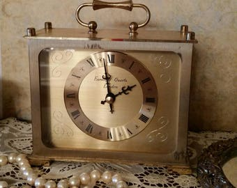 Eurastyle - Style London Gold Tone Clock sn1767