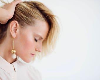 Statement Earrings, Modern Earrings, Geometric Earrings, Long Earrings, Dangle Bead Earrings, Dangle Earrings, Drop Earrings