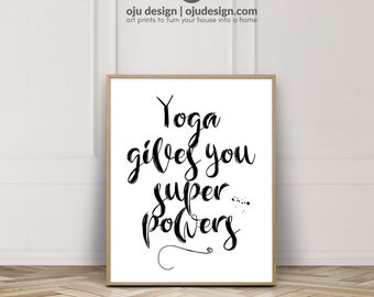Yoga Wall Art, Yoga Poster, Yoga Wall Posters, Yoga Art For Gift, Yoga Decor Bedroom, Yoga Poster Print, Yoga Art For Home, Printable Art