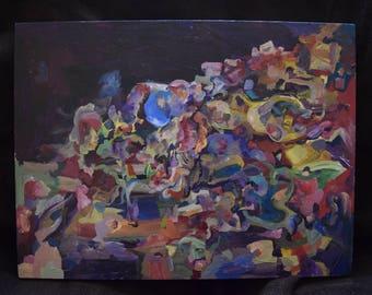 Untitled Acrylic on Wood #1